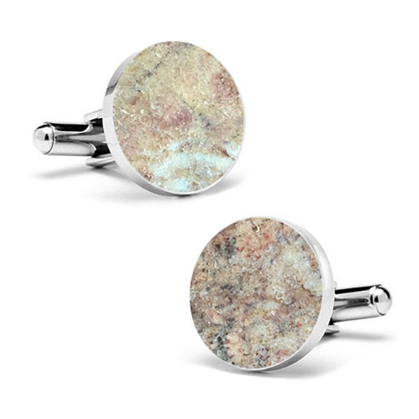 Mikol Marmi - Red Verona Round Marble Cuff Links - Real Marble - Mikol Marmi Collection