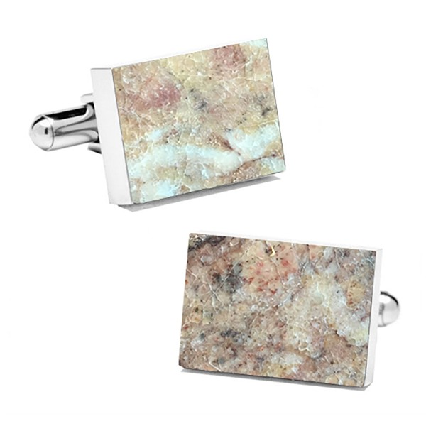 Mikol Marmi - Red Verona Rectangular Marble Cuff Links - Real Marble - Mikol Marmi Collection