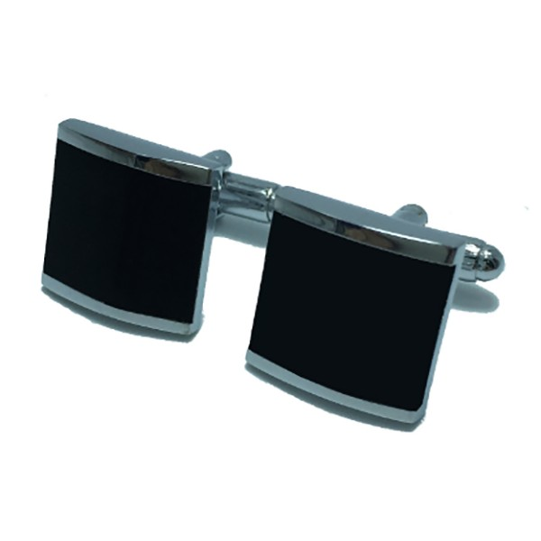 Mikol Marmi - Enamel and Copper Plating Rectangular Marble Cuff Links - Mikol Marmi Collection