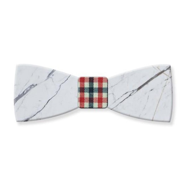 Mikol Marmi - Carrara White Gemstone Marble Bow Tie - Papillon - Real Marble - Mikol Marmi Collection
