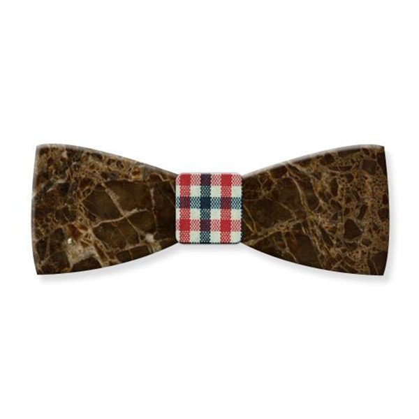 Mikol Marmi - Emperador Gemstone Marble Bow Tie - Papillon - Real Marble - Mikol Marmi Collection