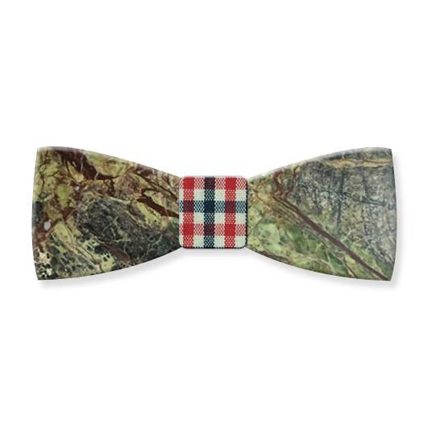 Mikol Marmi - Rainforest Green Gemstone Marble Bow Tie - Papillon - Real Marble - Mikol Marmi Collection