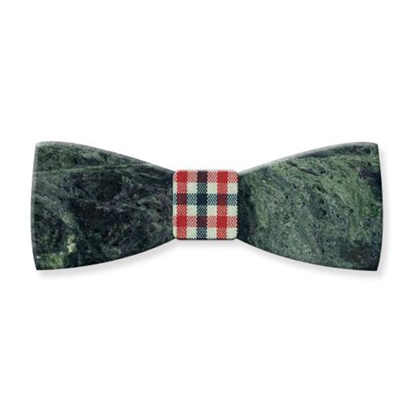Mikol Marmi - Emerald Green Gemstone Marble Bow Tie - Papillon - Real Marble - Mikol Marmi Collection