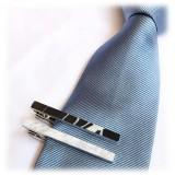 Mikol Marmi - Black Marquina Gemstone Marble Tie Bar - Real Marble - Mikol Marmi Collection