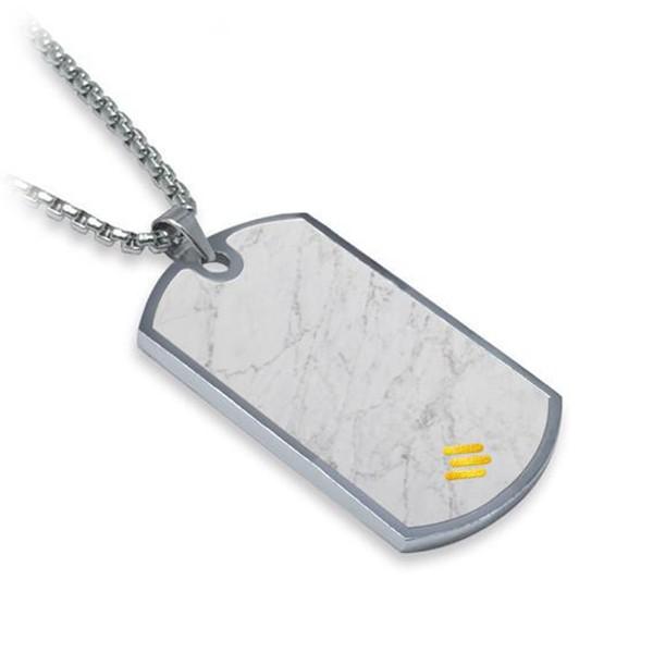 Mikol Marmi - Dog Tag in Marmo Bianco di Carrara - Medaglietta Militare - Vero Marmo - Mikol Marmi Collection