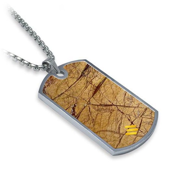 Mikol Marmi - Desert Sand Gemstone Marble Dog Tag - Real Marble - Mikol Marmi Collection