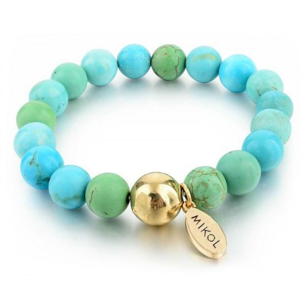 Mikol Marmi - Braccialetto di Perle in Marmo Aquamarine - Vero Marmo - Mikol Marmi Collection