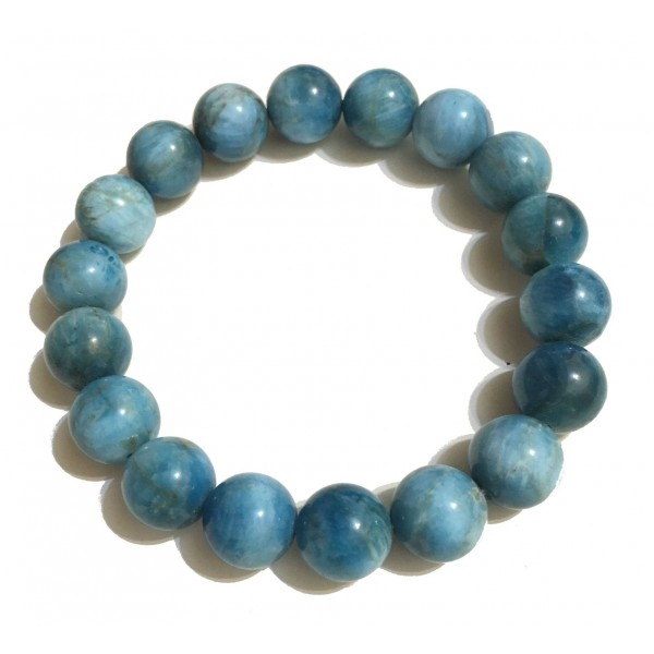 Mikol Marmi - Ocean Blue Gemstone Marble Beaded Bracialet - Real Marble - Mikol Marmi Collection