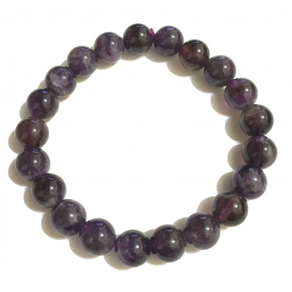 Mikol Marmi - Amethyst Gemstone Marble Beaded Bracialet - Real Marble - Mikol Marmi Collection