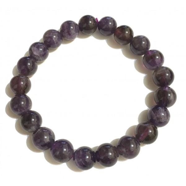 Mikol Marmi - Braccialetto di Perle in Marmo Amethyst - Vero Marmo - Mikol Marmi Collection