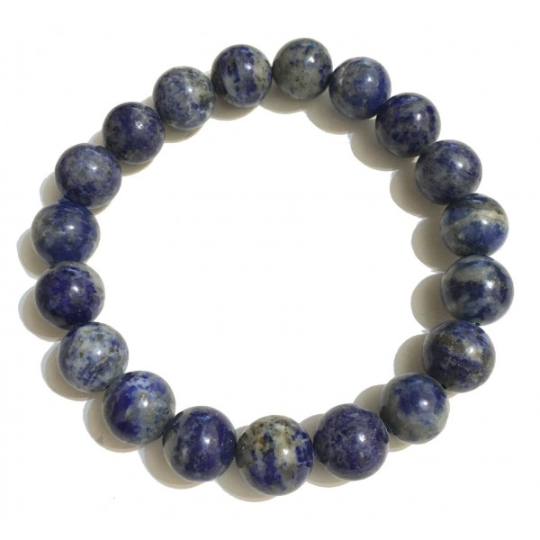 Mikol Marmi - Sodalite Blue Gemstone Marble Beaded Bracialet - Real Marble - Mikol Marmi Collection