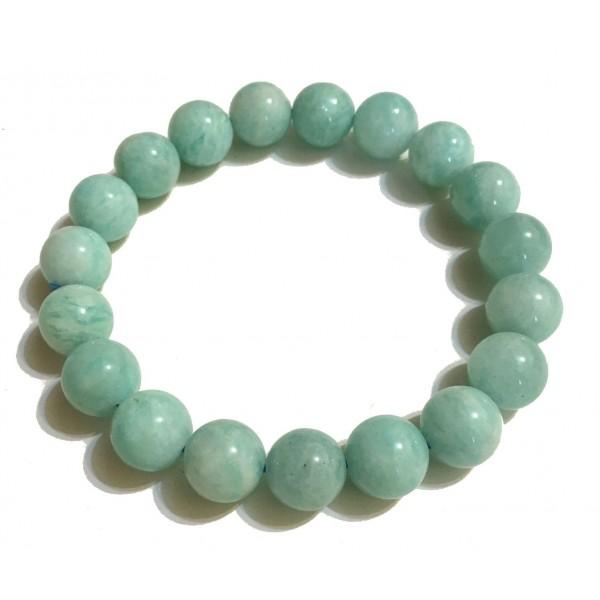 Mikol Marmi - Braccialetto di Perle in Marmo Sky Blue - Vero Marmo - Mikol Marmi Collection