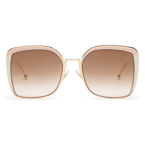 Fendi - F is Fendi - Occhiali da Sole Squadrata Oversize Rame - Occhiali da Sole - Fendi Eyewear