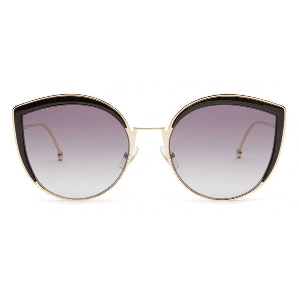 dc2e9cfa3ded Fendi - F is Fendi - Gold Cat Eye Oversize Sunglasses - Sunglasses - Fendi  Eyewear - Avvenice
