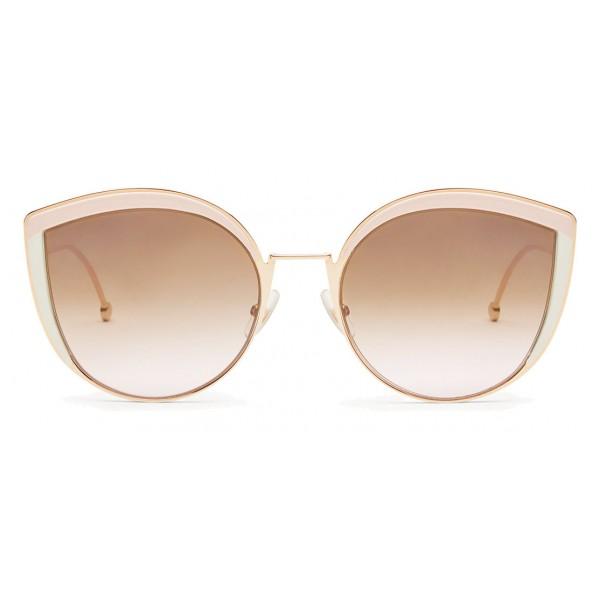 d3e8307958 Fendi - F is Fendi - Copper Cat Eye Oversize Sunglasses - Sunglasses - Fendi  Eyewear - Avvenice
