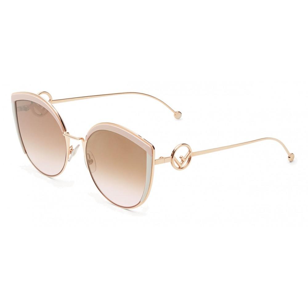 5b8777f82c ... Fendi - F is Fendi - Copper Cat Eye Oversize Sunglasses - Sunglasses - Fendi  Eyewear ...