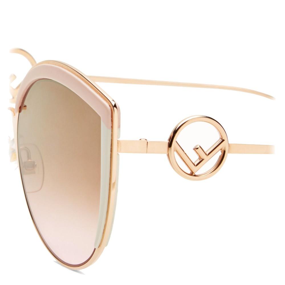 500cf28702 ... Fendi - F is Fendi - Copper Cat Eye Oversize Sunglasses - Sunglasses - Fendi  Eyewear