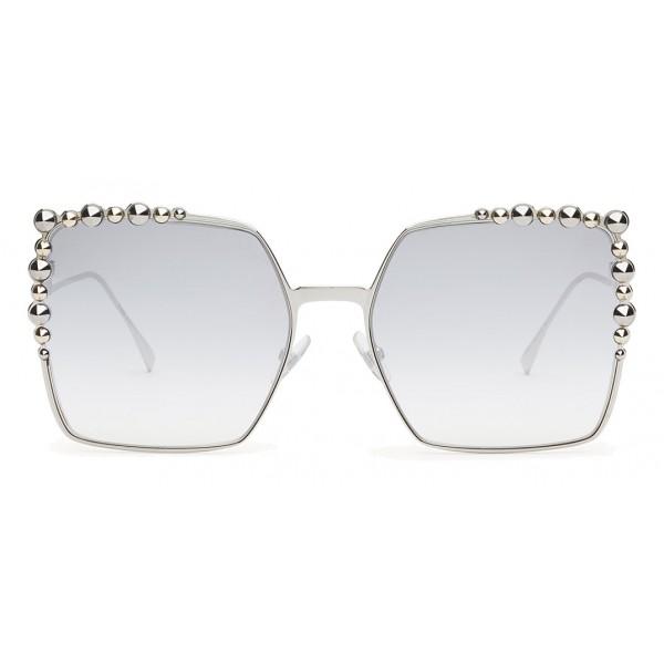 924068ed30ef5 Fendi - Can Eye - Silver Square Oversize Sunglasses - Sunglasses - Fendi  Eyewear - Avvenice
