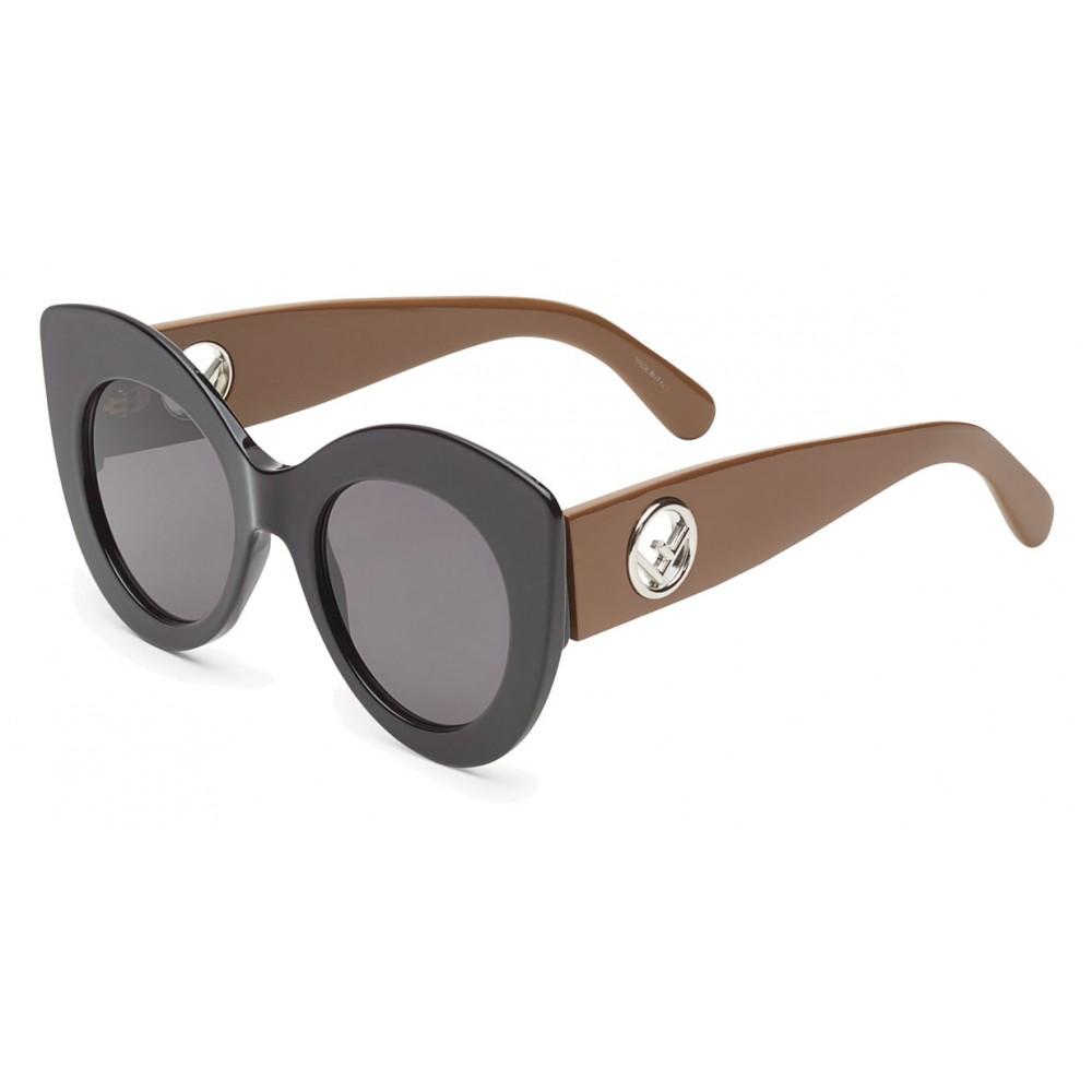 e673908cc0 ... Fendi - F is Fendi - Black and Brown Cat Eye Sunglasses - Sunglasses -  Fendi ...