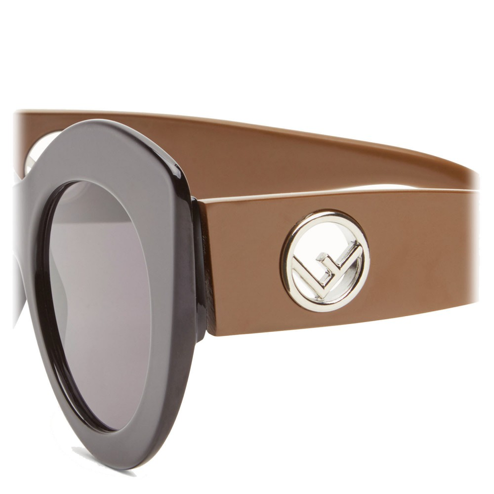 96bffd11ed ... Fendi - F is Fendi - Black and Brown Cat Eye Sunglasses - Sunglasses -  Fendi