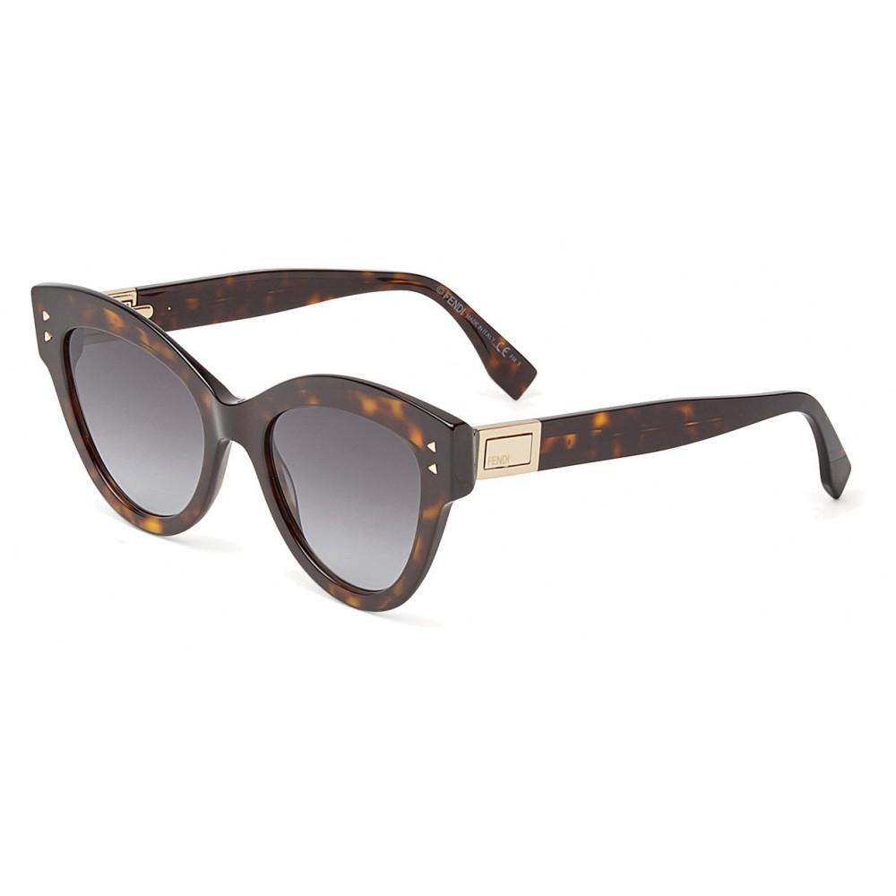 03b0b13f69 ... Fendi - Peeakaboo - Havana Brown Cat Eye Sunglasses - Sunglasses - Fendi  Eyewear ...