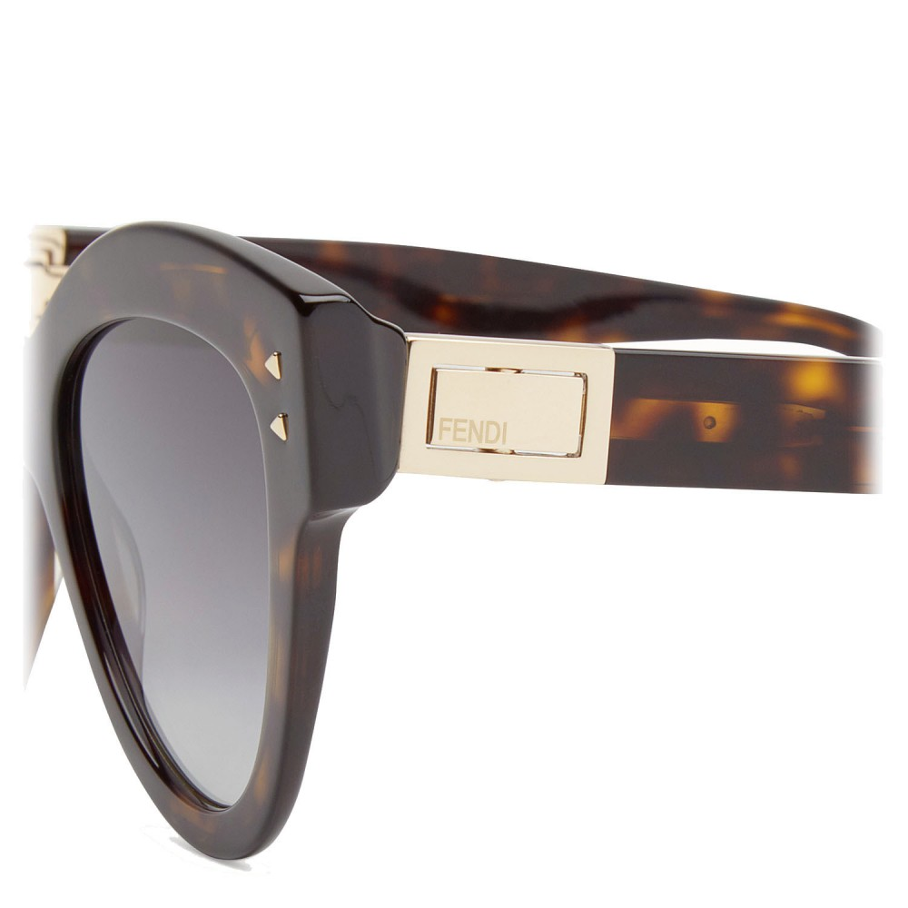 88ff6015dd ... Fendi - Peeakaboo - Havana Brown Cat Eye Sunglasses - Sunglasses - Fendi  Eyewear