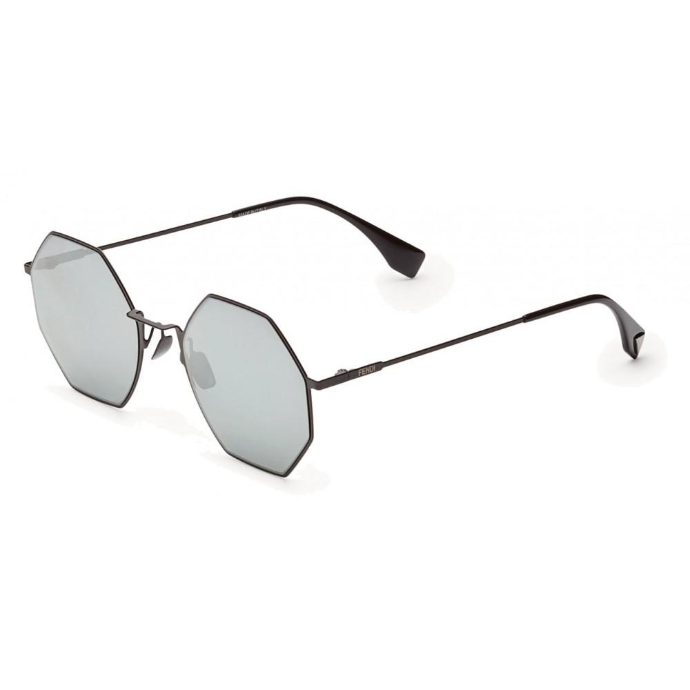 ca9adb44739 ... Fendi - Eyeline - Black Octagonal Sunglasses - Sunglasses - Fendi  Eyewear ...
