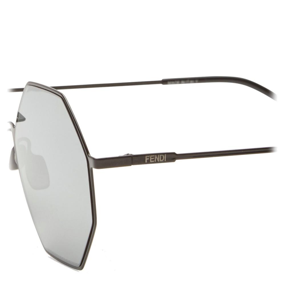 bd8c4f7beb1 ... Fendi - Eyeline - Black Octagonal Sunglasses - Sunglasses - Fendi  Eyewear