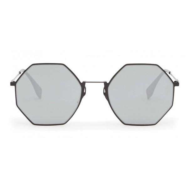 1a4255363ef Fendi - Eyeline - Black Octagonal Sunglasses - Sunglasses - Fendi Eyewear