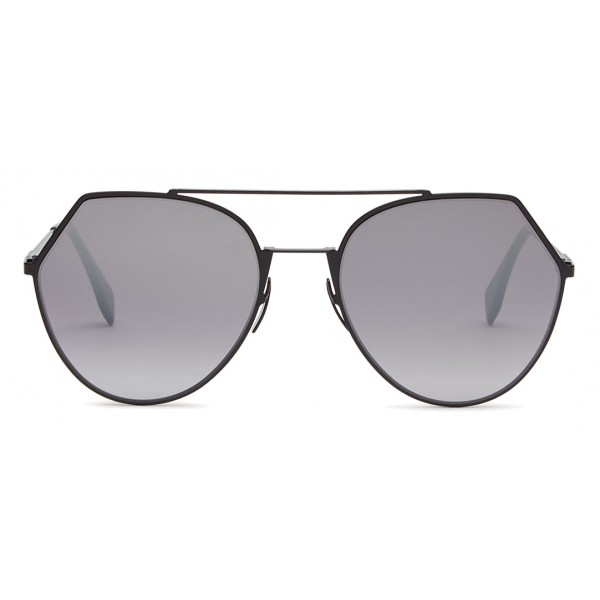 849a308f8d3 Fendi - Eyeline - Black Rounded Sunglasses - Sunglasses - Fendi Eyewear -  Avvenice