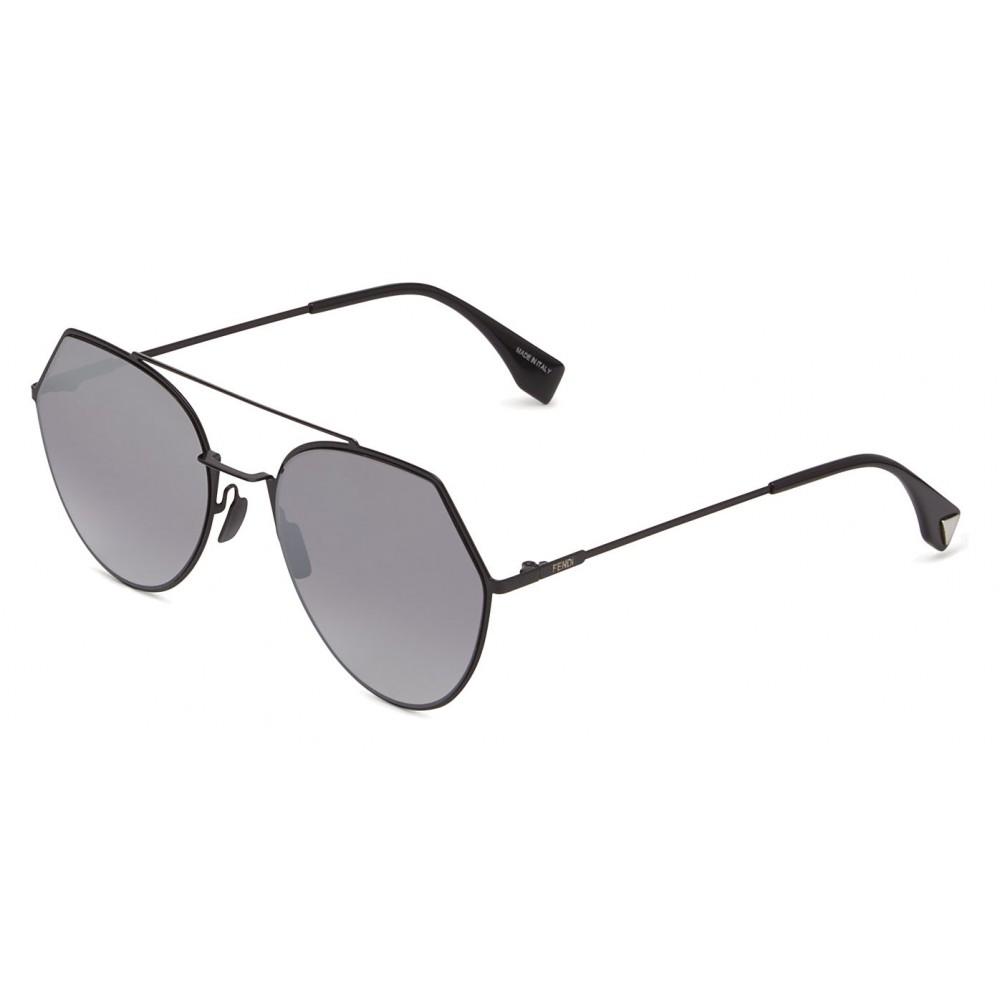 147c2eb1e8e ... Fendi - Eyeline - Black Rounded Sunglasses - Sunglasses - Fendi Eyewear  ...