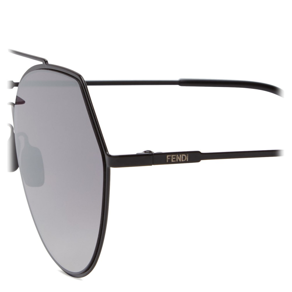 72526bb2927 ... Fendi - Eyeline - Black Rounded Sunglasses - Sunglasses - Fendi Eyewear