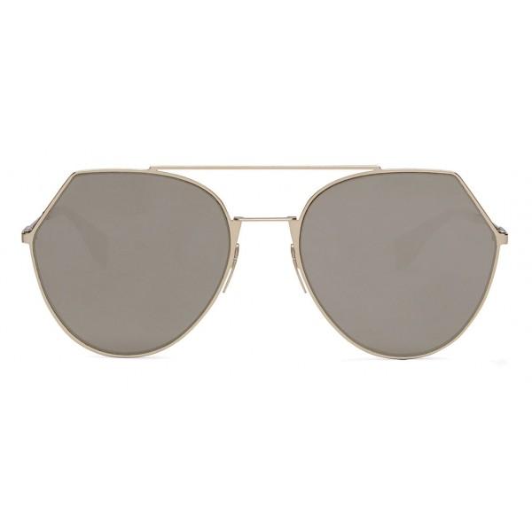 8fed987c6cc Fendi - Eyeline - Soft Gold Rounded Sunglasses - Sunglasses - Fendi Eyewear  - Avvenice