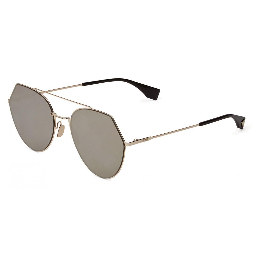 dab5ee447c3 ... Fendi - Eyeline - Soft Gold Rounded Sunglasses - Sunglasses - Fendi  Eyewear ...