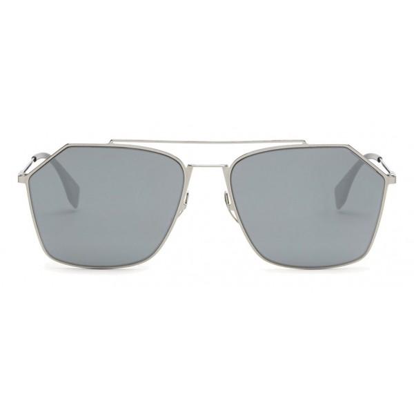 df4de81d845 Fendi - Eyeline - Ruthenium Asian Fit Square Sunglasses - Sunglasses - Fendi  Eyewear - Avvenice