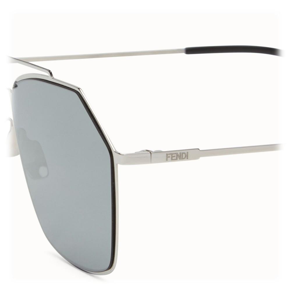 8de81f8ce15 ... Fendi - Eyeline - Ruthenium Asian Fit Square Sunglasses - Sunglasses - Fendi  Eyewear
