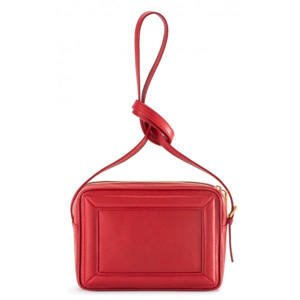Aleksandra Badura - Camera Bag - Mini Borsa in Pelle di Capra - Rossa - Alta Qualità di Luxury