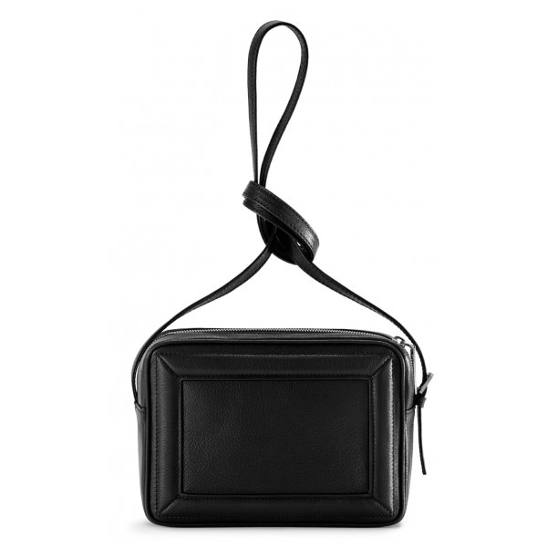 Aleksandra Badura - Camera Bag - Goatskin Mini Bag - Black - Luxury High Quality Leather Bag