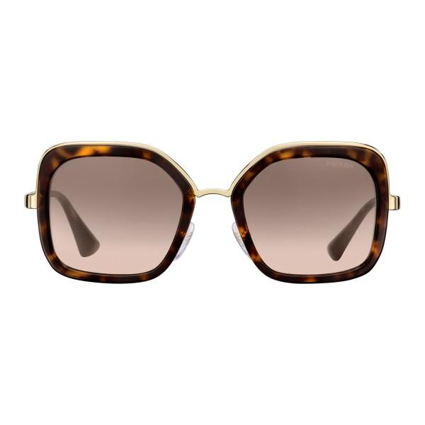 Prada - Prada Cinéma - Occhiali Quadrati in Tartaruga - Prada Cinéma Collection - Occhiali da Sole - Prada Eyewear