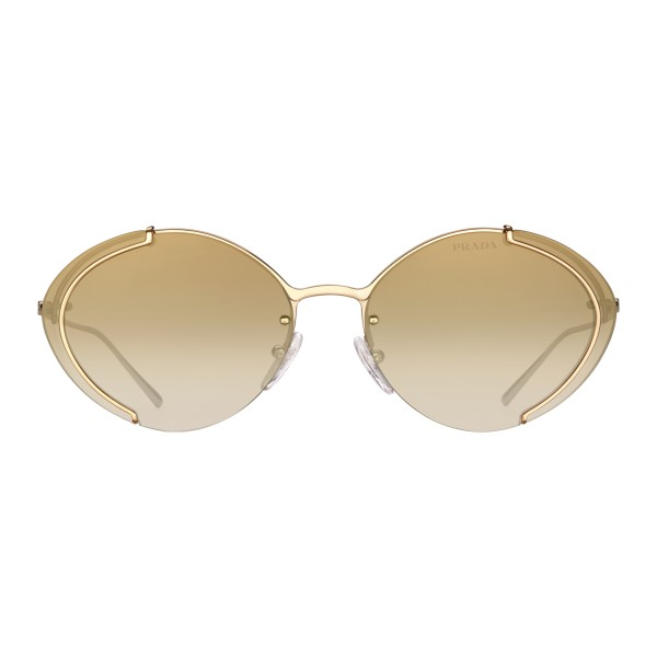 Prada - Prada Collection - Gold Oval Sunglasses - Prada Collection - Sunglasses - Prada Eyewear