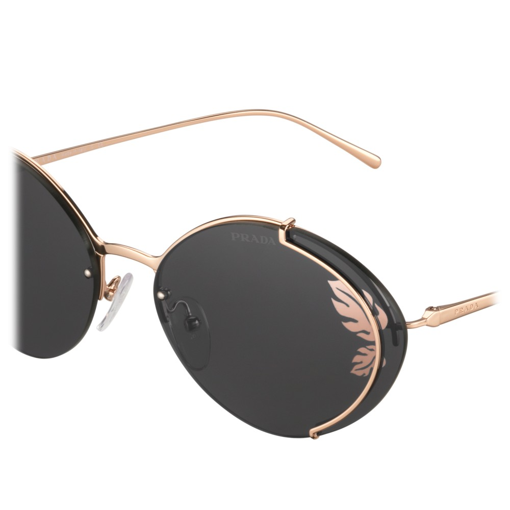 6933197a5680 ... Prada - Prada Collection - Rose Gold Oval Sunglasses - Prada Collection  - Sunglasses - Prada ...