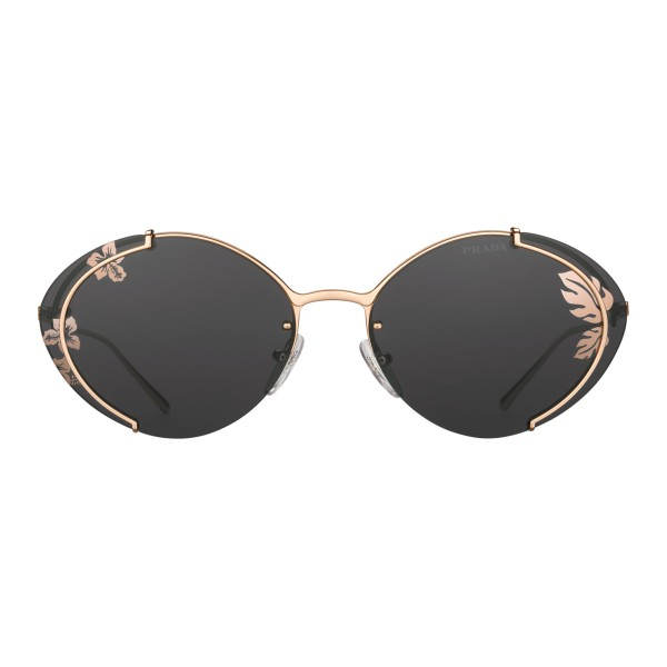 Prada - Prada Collection - Rose Gold Oval Sunglasses - Prada Collection - Sunglasses - Prada Eyewear