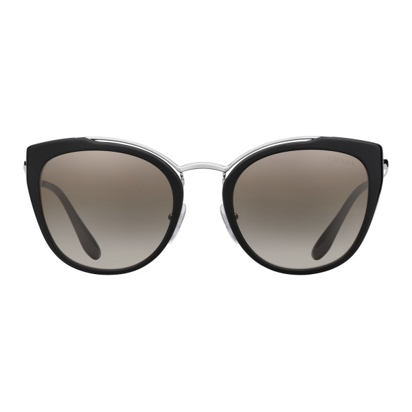 Prada - Prada Collection - Black and White Round Cat Eye Sunglasses - Prada Collection - Sunglasses - Prada Eyewear
