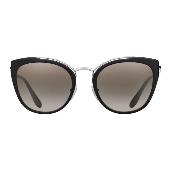 l'ultimo 37107 7a167 Prada - Prada Collection - Occhiali Rotondi Cat Eye Nero e Bianco - Prada  Collection - Occhiali da Sole - Prada Eyewear - Avvenice