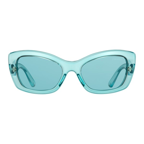 Prada - Prada Postcard - Occhiali Cat Eye Azzurro Fluo - Prada Postcard Collection - Occhiali da Sole - Prada Eyewear
