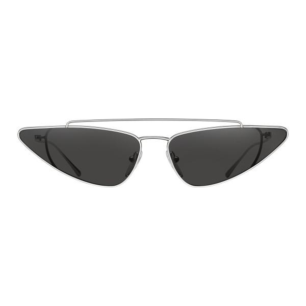 05c00c3a953 ... Prada Prada Ultravox Black Silver Cat Eye Triangle Sunglasses Prada  Ultravox Collection Sunglasses Prada Eyewear Avvenice