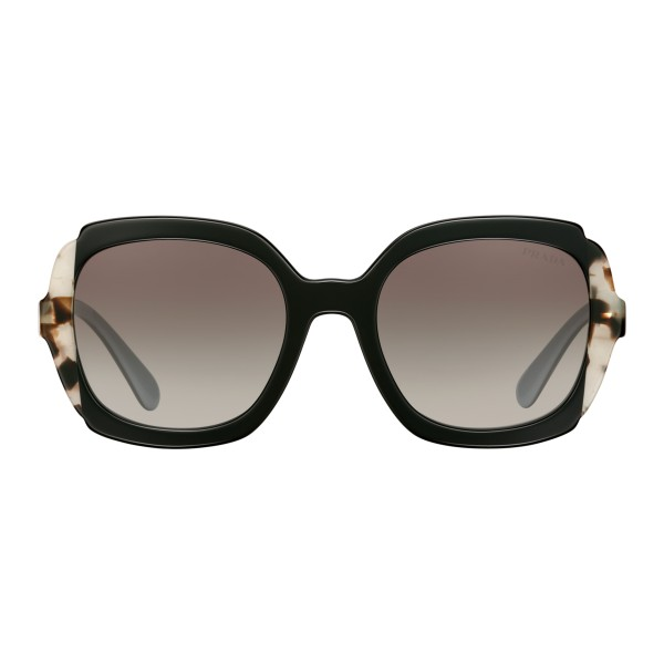 Prada - Prada Collection - Black Astral Talc Tortoise Square Sunglasses - Prada Collection - Sunglasses - Prada Eyewear