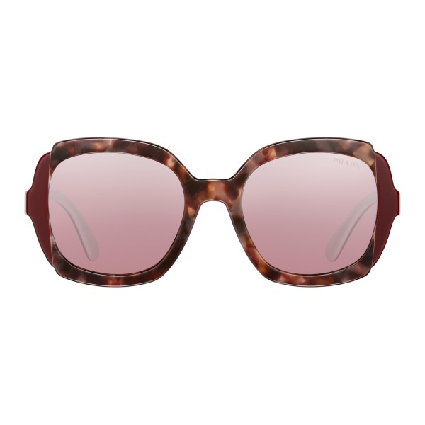 Prada - Prada Collection - White Turtle Orchid Cerise Square Sunglasses - Prada Collection - Sunglasses - Prada Eyewear