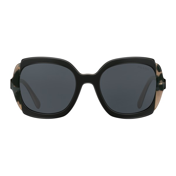 Prada - Prada Collection - Black Soleil Astral Turtle Square Sunglasses - Prada Collection - Sunglasses - Prada Eyewear