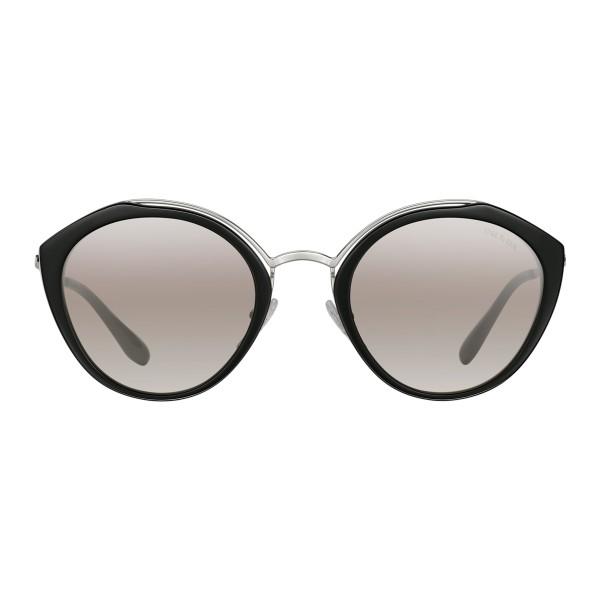 a7a6305465c9 Prada - Prada Collection - Black and White Round Cat Eye Sunglasses - Prada  Collection -